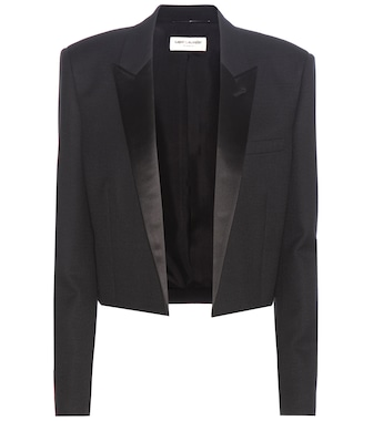 Saint Laurent - Cropped wool crêpe blazer - mytheresa.com