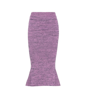Stella McCartney - Knitted cotton midi skirt - mytheresa.com
