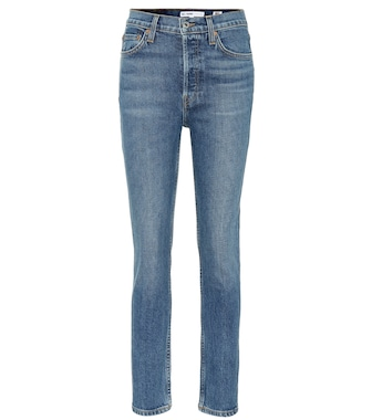 Re/Done - Cropped high-rise skinny jeans - mytheresa.com