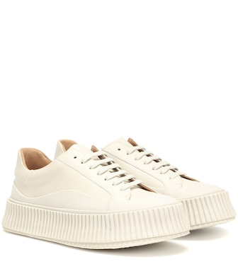 Jil Sander - Leather platform sneakers - mytheresa.com