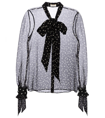 Saint Laurent - Polka-dot silk blouse - mytheresa.com