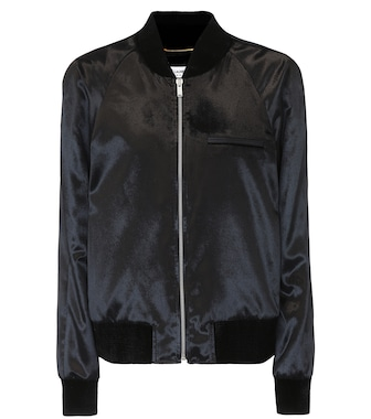 Saint Laurent - Velvet bomber jacket - mytheresa.com