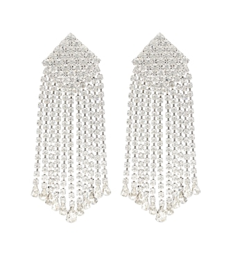 Alessandra Rich - Crystal-embellished clip-on earrings - mytheresa.com