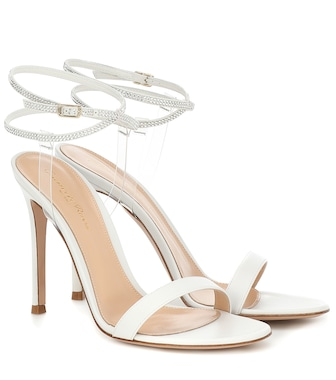 Gianvito Rossi - PVC and leather sandals - mytheresa.com
