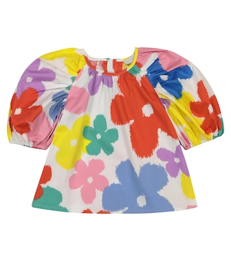 Stella McCartney Kids - Floral cotton top - mytheresa.com