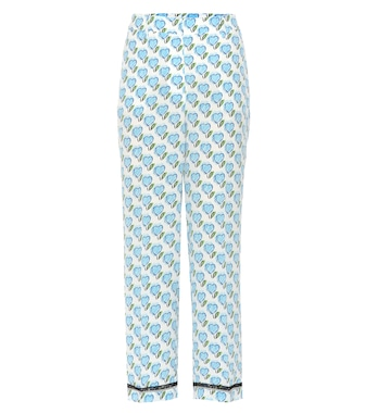 Prada - Printed silk trousers - mytheresa.com