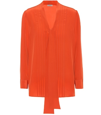 Bottega Veneta - Silk blouse - mytheresa.com