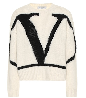 Valentino - VLogo alpaca and wool blend sweater - mytheresa.com