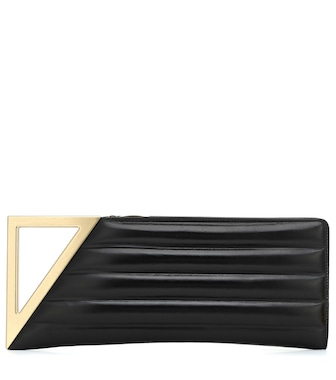 Bottega Veneta - BV Rim Small leather clutch - mytheresa.com