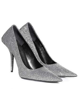 Balenciaga - Square Knife glitter pumps - mytheresa.com