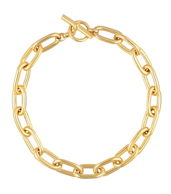 Tilly Sveaas - Large Oval Linked 18kt gold-plated necklace - mytheresa.com