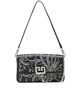 Givenchy - Charm studded leather shoulder bag - mytheresa.com