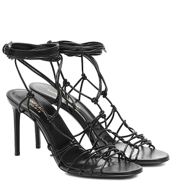 Saint Laurent - Robin 85 leather sandals - mytheresa.com