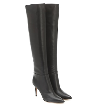 Gianvito Rossi - Knee-high leather boots - mytheresa.com