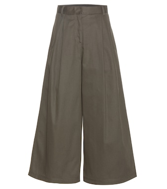 Valentino - Wide-legged wool trousers - mytheresa.com