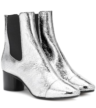 Isabel Marant - Danelya metallic leather ankle boots - mytheresa.com