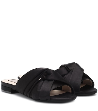 N°21 - Satin slides - mytheresa.com