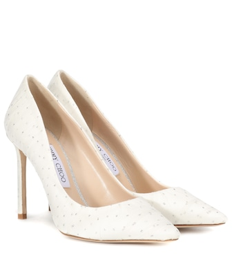 Jimmy Choo - Romy 100 tulle-trimmed pumps - mytheresa.com