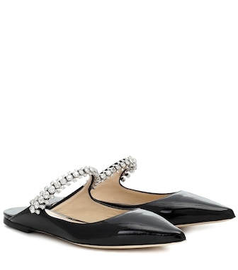 Jimmy Choo - Bing patent leather slippers - mytheresa.com