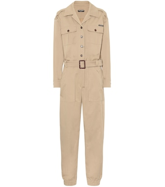 Dolce & Gabbana - Stretch-cotton jumpsuit - mytheresa.com
