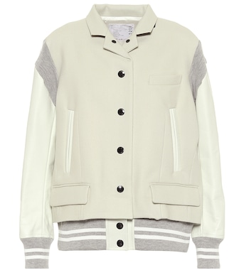 Sacai - Brushed wool jacket - mytheresa.com