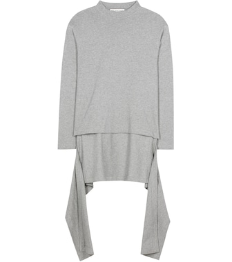 Balenciaga - Knitted cotton sweater - mytheresa.com
