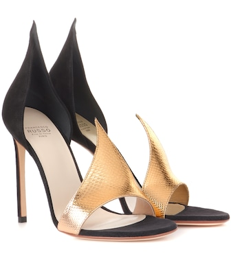 Francesco Russo - Phard suede and snakeskin sandals - mytheresa.com