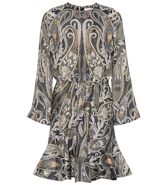 Chloé - Printed silk-blend dress - mytheresa.com