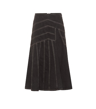 Miu Miu - Cotton denim midi skirt - mytheresa.com