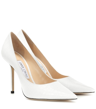 Jimmy Choo - Love 100 croc-embossed leather pumps - mytheresa.com