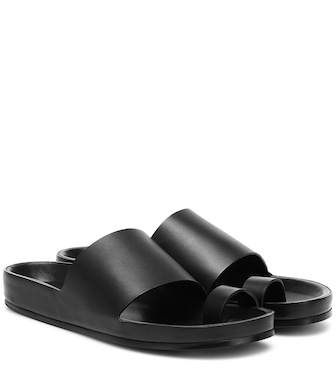 Jil Sander - Leather slides - mytheresa.com
