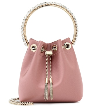 Jimmy Choo - Bon Bon satin bucket bag - mytheresa.com