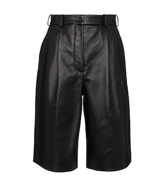 Acne Studios - Leather Bermuda shorts - mytheresa.com