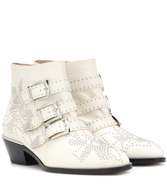 Chloé - Susanna studded leather ankle boots - mytheresa.com