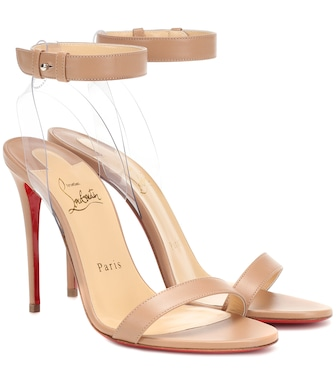 Christian Louboutin - Jonatina 100 leather sandals - mytheresa.com
