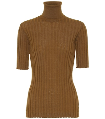 Bottega Veneta - Wool turtleneck top - mytheresa.com