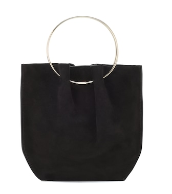 The Row - Flat Micro Circle suede tote - mytheresa.com