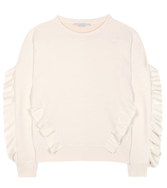 Stella McCartney - Ruffled cotton-blend sweater - mytheresa.com