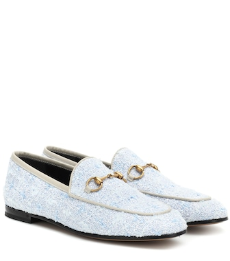 Gucci - Jordaan tweed loafers - mytheresa.com