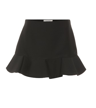 Valentino - Wool and silk miniskirt - mytheresa.com