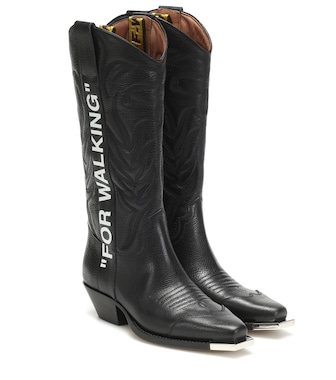 Off-White - For Walking leather cowboy boots - mytheresa.com