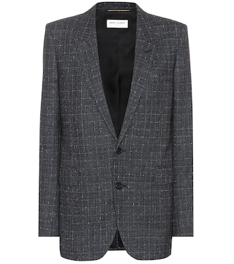 Saint Laurent - Checked wool blazer - mytheresa.com
