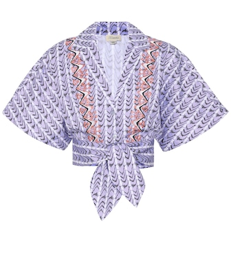 Temperley London - Poet printed cotton cropped shirt - mytheresa.com