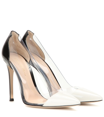 Gianvito Rossi - Patent leather and transparent pumps - mytheresa.com