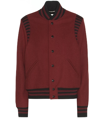 Saint Laurent - Wool-blend bomber jacket - mytheresa.com