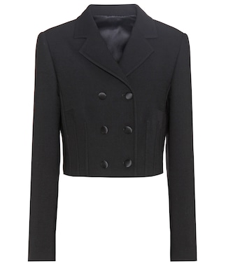 Dolce & Gabbana - Virgin wool-blend cropped jacket - mytheresa.com