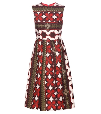Valentino - Printed wool and silk dress - mytheresa.com