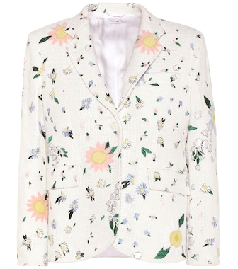 Thom Browne - Embroidered cotton tweed blazer - mytheresa.com