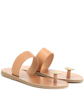 Ancient Greek Sandals - Thalia Coin leather sandals - mytheresa.com
