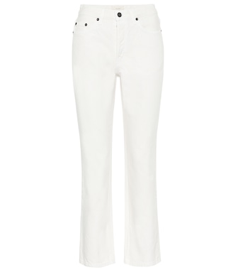The Row - High-Rise Slim Jeans Ash - mytheresa.com
